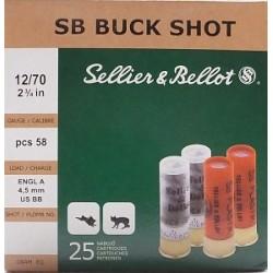 Náboj S&B 12x70 BUCK SHOT  8,4 mm