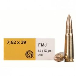 Náboj kulový Sellier Bellot, Standard, 7,62x39, 123GR/ 8g, FMJ