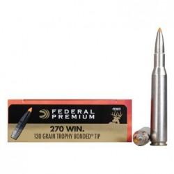 Náboj kulový Federal, Premium Vital Shok, .270 Win, 130 GR, Trophy Bonded Tip