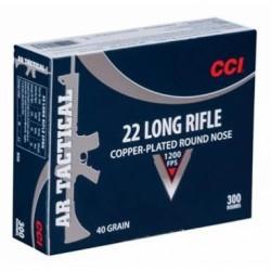 Náboj kulový CCI, AR Tactical, .22LR, 40GR, Copper Plated RN, balení 300ks