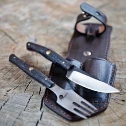 nůž+vidlička v pouzdru Dellinger RETTER BBQ