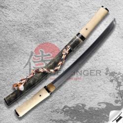 japanese tanto HADA & Folded Steel 1075 & Real Choji Hamon