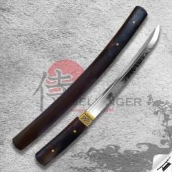 japanese tanto Shirasaya & T-10 Steel & Real Choji Hamon