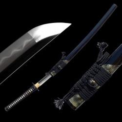 katana SASU, čepel z překládané (damaškové) oceli AISI 1095